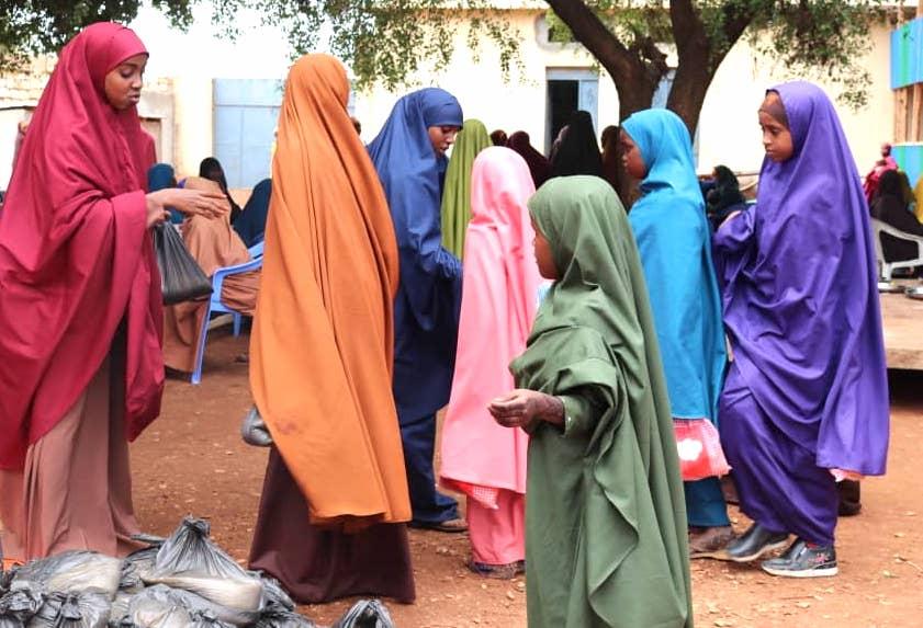 Nahrungsmittelverteilung in Somalia